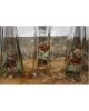 Sticlă cu gât înalt cu motive vânătorești