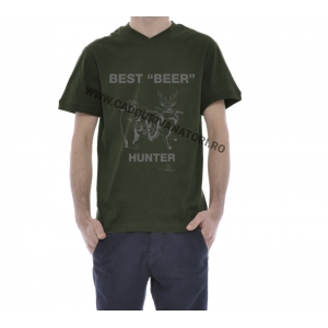 "Tricou ""Best Beer Hunter"" - kaki"