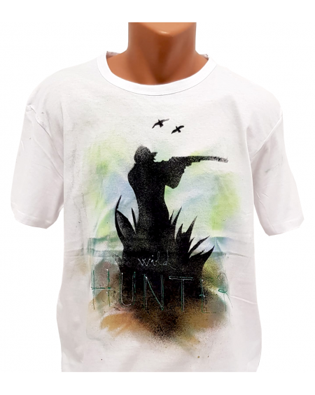 Tricou pictat manual - Wild Hunter