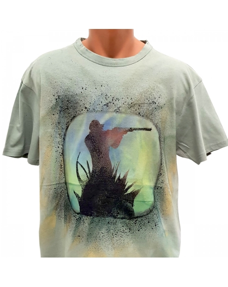 Tricou pictat manual - Hunter