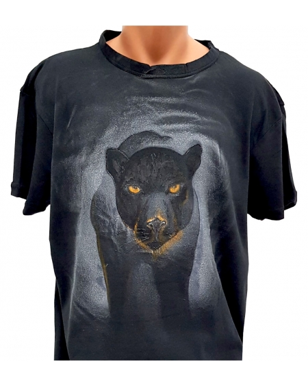 Tricou pictat manual - Black Panther