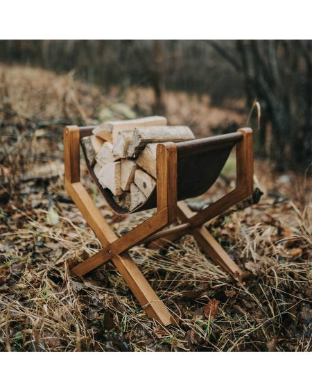 Suport lemne din piele