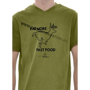 "Tricou ""Eat more fast food"""