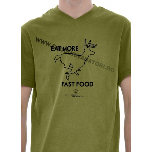 """Tricou """"Eat more fast food"""""""