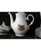 Set cafea si ceai din ceramica cu motive vanatoresti pentru 6 persoane