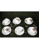 Set cesti cafea si ceai din ceramica cu motive vanatoresti pentru 6 persoane